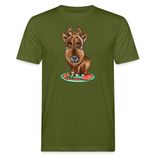 Reindeer refined scribblesirii - Miesten luonnonmukainen t-paita