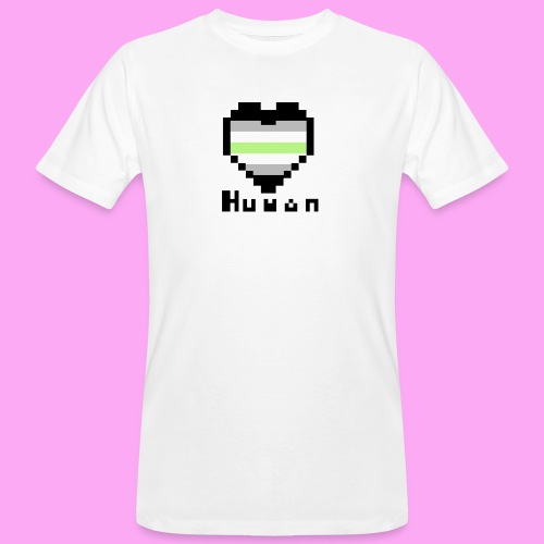 Pride heart agender - Miesten luonnonmukainen t-paita