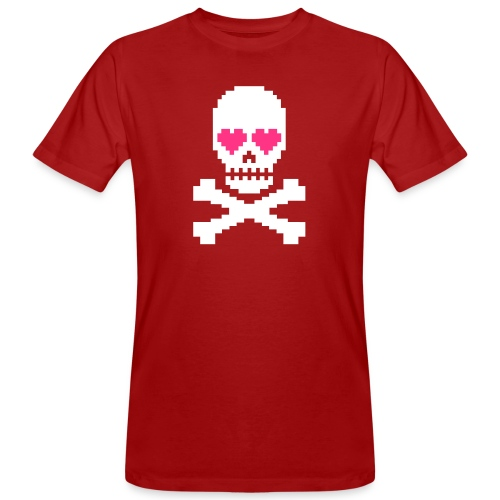 Skull Love - Mannen Bio-T-shirt