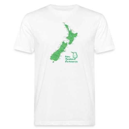 New Zealand's Map - Men's Organic T-Shirt