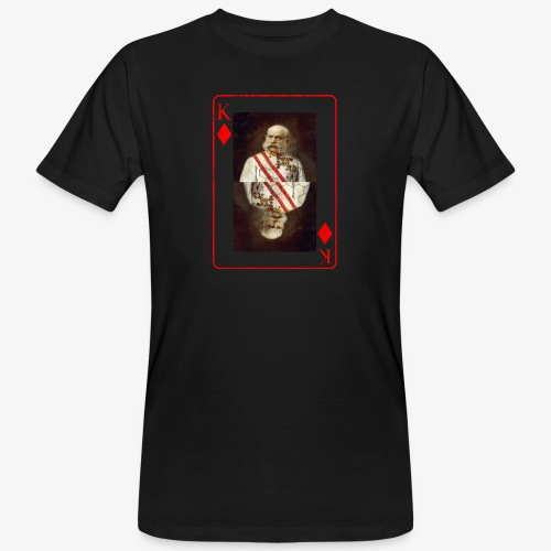 Kaiser Franz von Österreich spielkarte - Männer Bio-T-Shirt