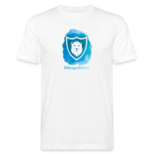 Baerspektivo inkl. Schriftzug in Blau Aquarell - Männer Bio-T-Shirt