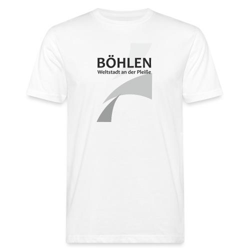 Weltstadt an der Pleiße - Männer Bio-T-Shirt