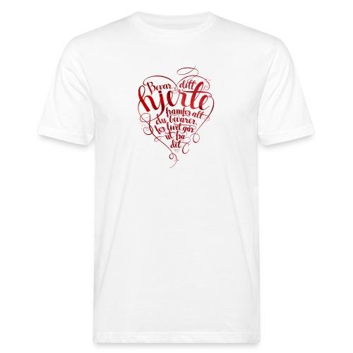 Bevar ditt hjerte - Økologisk T-skjorte for menn