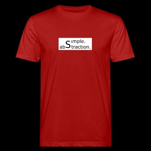 logo simple. abstraction. s/w - Männer Bio-T-Shirt