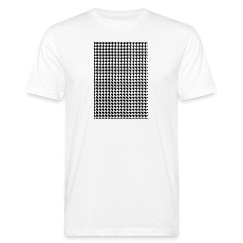 pied de poule v12 final01 - Mannen Bio-T-shirt