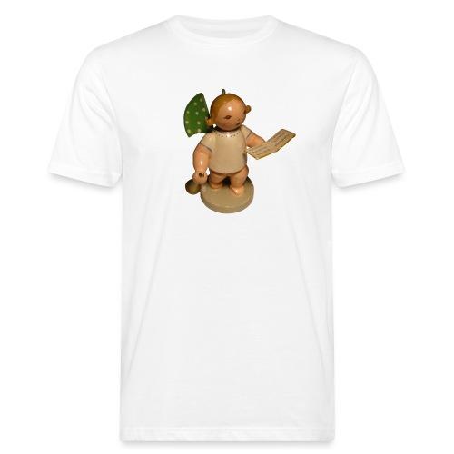 Engel mit Notenblatt + Trompete Retro Vintage Alt - Männer Bio-T-Shirt