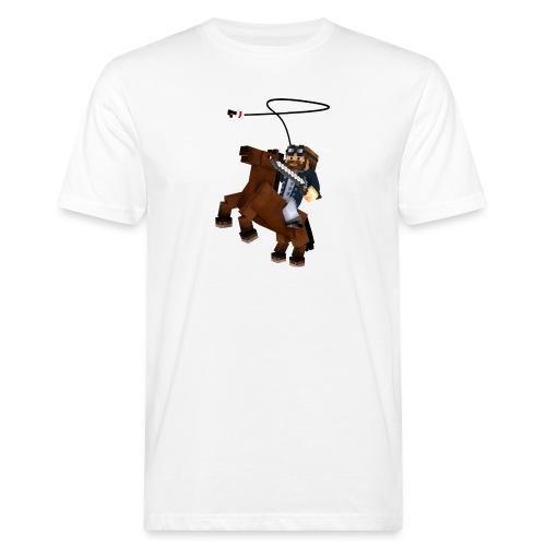Titan y su rocinante café - Camiseta ecológica hombre