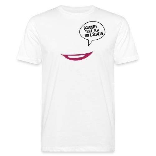 Maske - darunter trage ich ein Lächeln No.7 - Männer Bio-T-Shirt