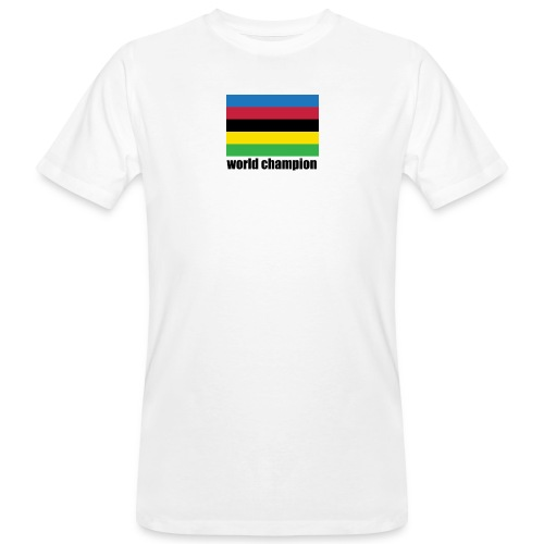 world champion cycling stripes - Mannen Bio-T-shirt