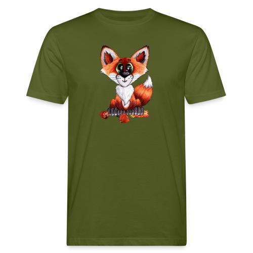 llwynogyn - a little red fox - Miesten luonnonmukainen t-paita