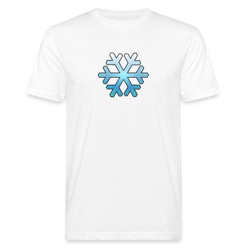 Schneeflocke - Männer Bio-T-Shirt