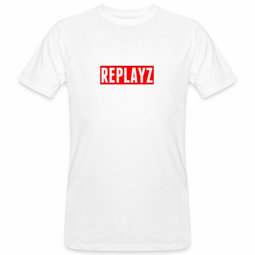 Replayz Red Box Logo - Men's Organic T-Shirt