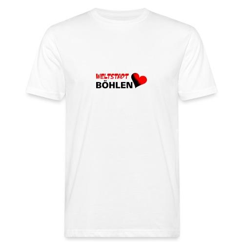 Böhlen ist eine Weltstadt - Männer Bio-T-Shirt