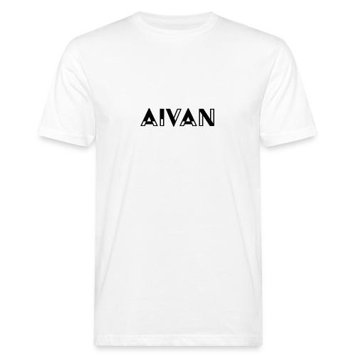 Aivan - Musta teksti - Miesten luonnonmukainen t-paita