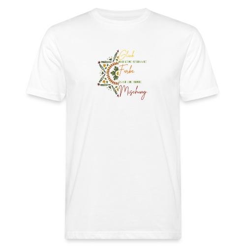 glück hat keine bestimmte farbe mandala spruch - Männer Bio-T-Shirt