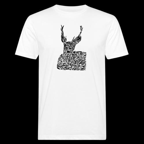 deer black and white - Miesten luonnonmukainen t-paita