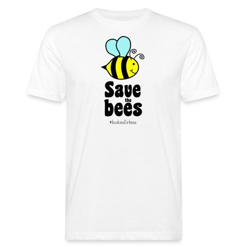 Bees9-1 save the bees | Bienen Blumen Schützen - Men's Organic T-Shirt