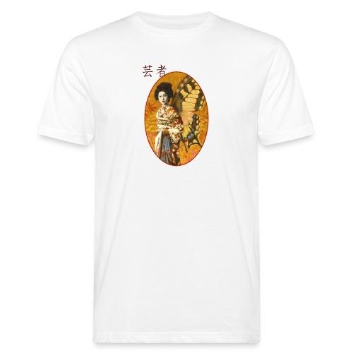 Vintage Japanese Geisha Oriental Design - Men's Organic T-Shirt