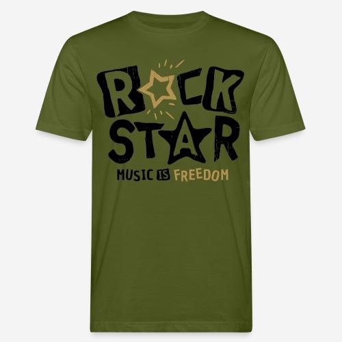 Musik Freiheit - Männer Bio-T-Shirt