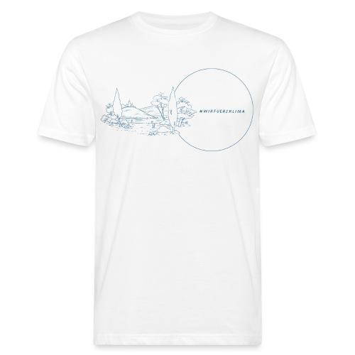 #wirfuersklima Landschaft mit Kreis mit Outline - Männer Bio-T-Shirt