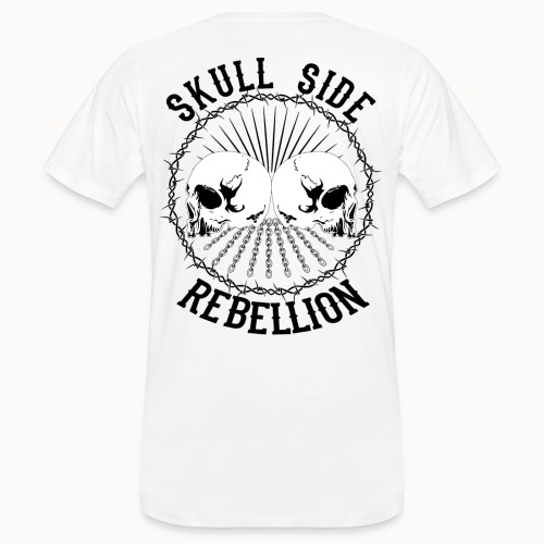 Skull side rebellion - Männer Bio-T-Shirt