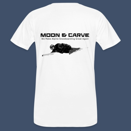 Moon & Carve Backside - Männer Bio-T-Shirt