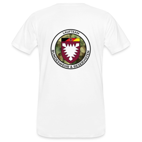 Logo des Laufteams - Männer Bio-T-Shirt
