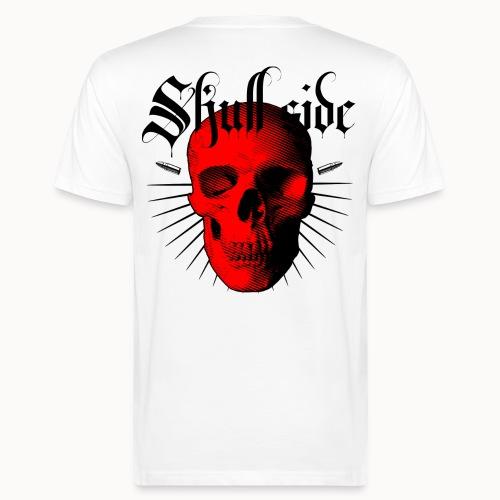 Skull side red - Männer Bio-T-Shirt