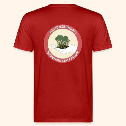 Logo Aktionsbündnis Regenwald statt Palmöl - Männer Bio-T-Shirt