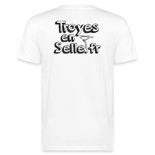 logo Troyes en Selle noir - T-shirt bio Homme