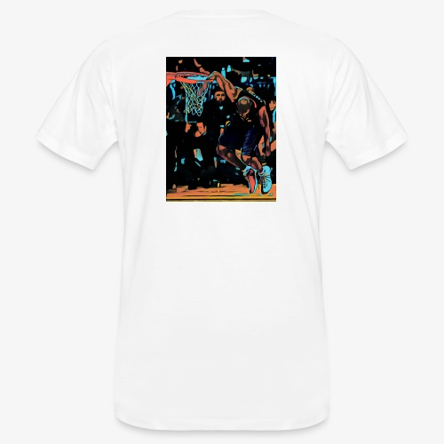 VC hand in the basket dunk art work - T-shirt ecologica da uomo