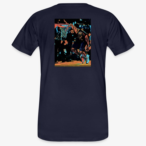 VC hand in the basket dunk art work - T-shirt ecologica da uomo
