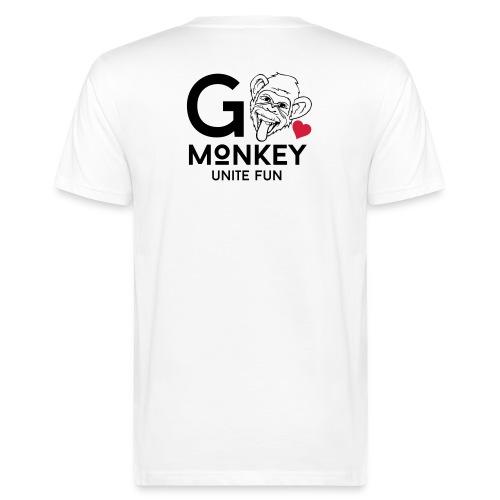 GO MONKEY - Unite fun - Økologisk T-skjorte for menn