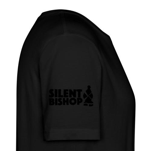 Silent Bishop Logo Groot - Mannen Bio-T-shirt