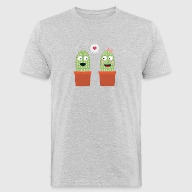 Rakastunut kaktukset - Miesten luonnonmukainen t-paita