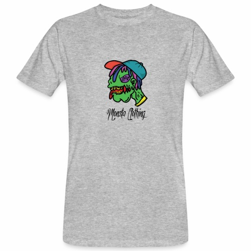 Monsta T-Shirt With Text - Men's Organic T-Shirt