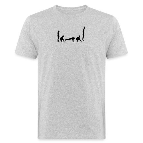 burpees silhouette - Männer Bio-T-Shirt