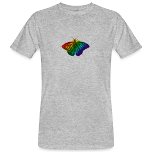 Regenboog vlinder - Freedom, Love en Happiness - Mannen Bio-T-shirt
