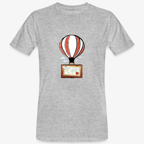 CUORE VIAGGIATORE Gadget per chi ama viaggiare - T-shirt ecologica da uomo