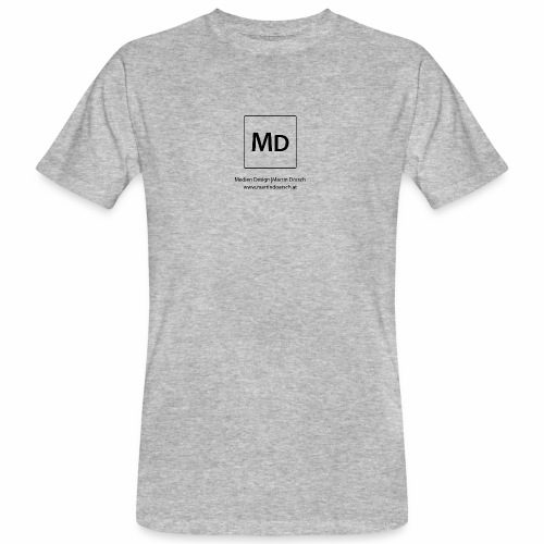 MD Logo - schwarz - Männer Bio-T-Shirt