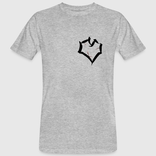 cracked heart - Mannen Bio-T-shirt