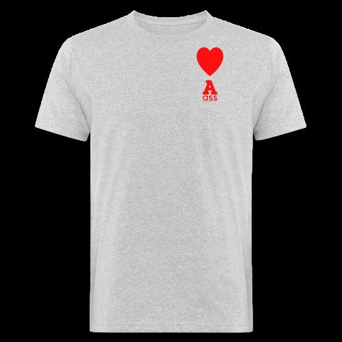 HERZ ASS - Männer Bio-T-Shirt