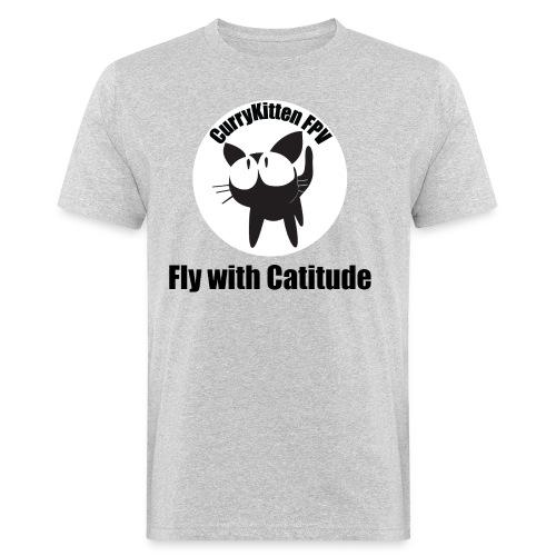 CurryKitten Logo - Fly with Catitude - Men's Organic T-shirt