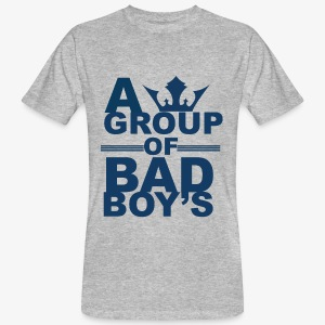 Bad boys blauw2 1 - Mannen Bio-T-shirt