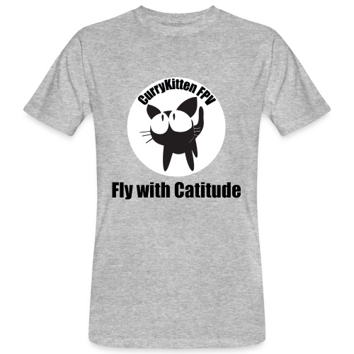 CurryKitten Logo - Fly with Catitude - Men's Organic T-Shirt
