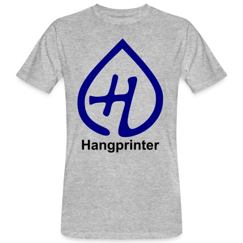 Hangprinter logo and text - Ekologisk T-shirt herr