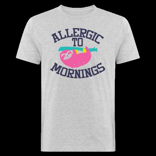 Allergic to Mornings - Männer Bio-T-Shirt