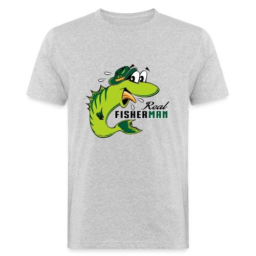 10-38 REAL FISHERMAN - TODELLINEN KALASTAJA - Miesten luonnonmukainen t-paita