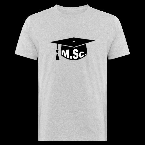 Doktorhut Master of Science M.Sc Doktorarbeit - Männer Bio-T-Shirt